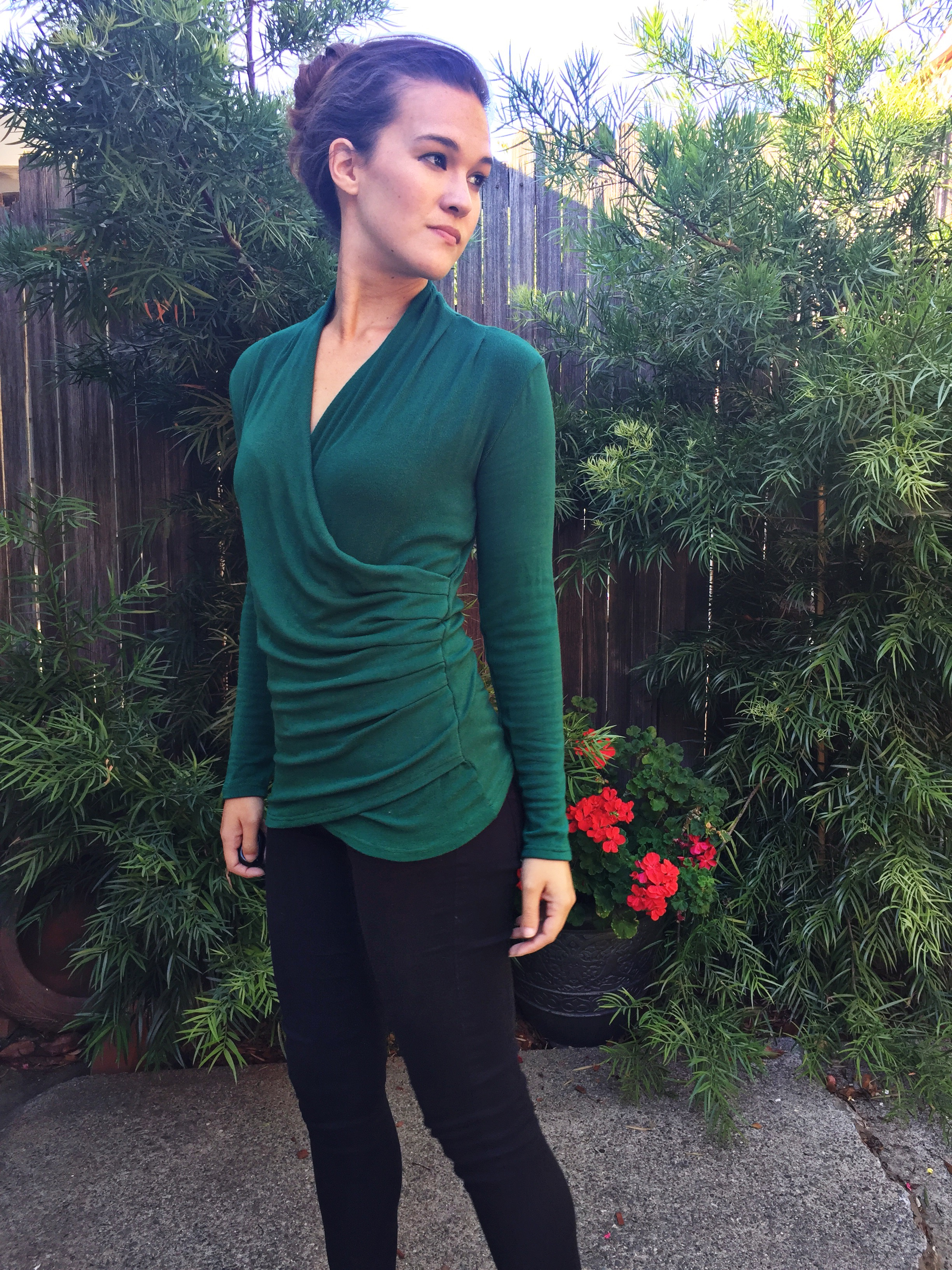 Pattern testing: Brasov Wrap Top