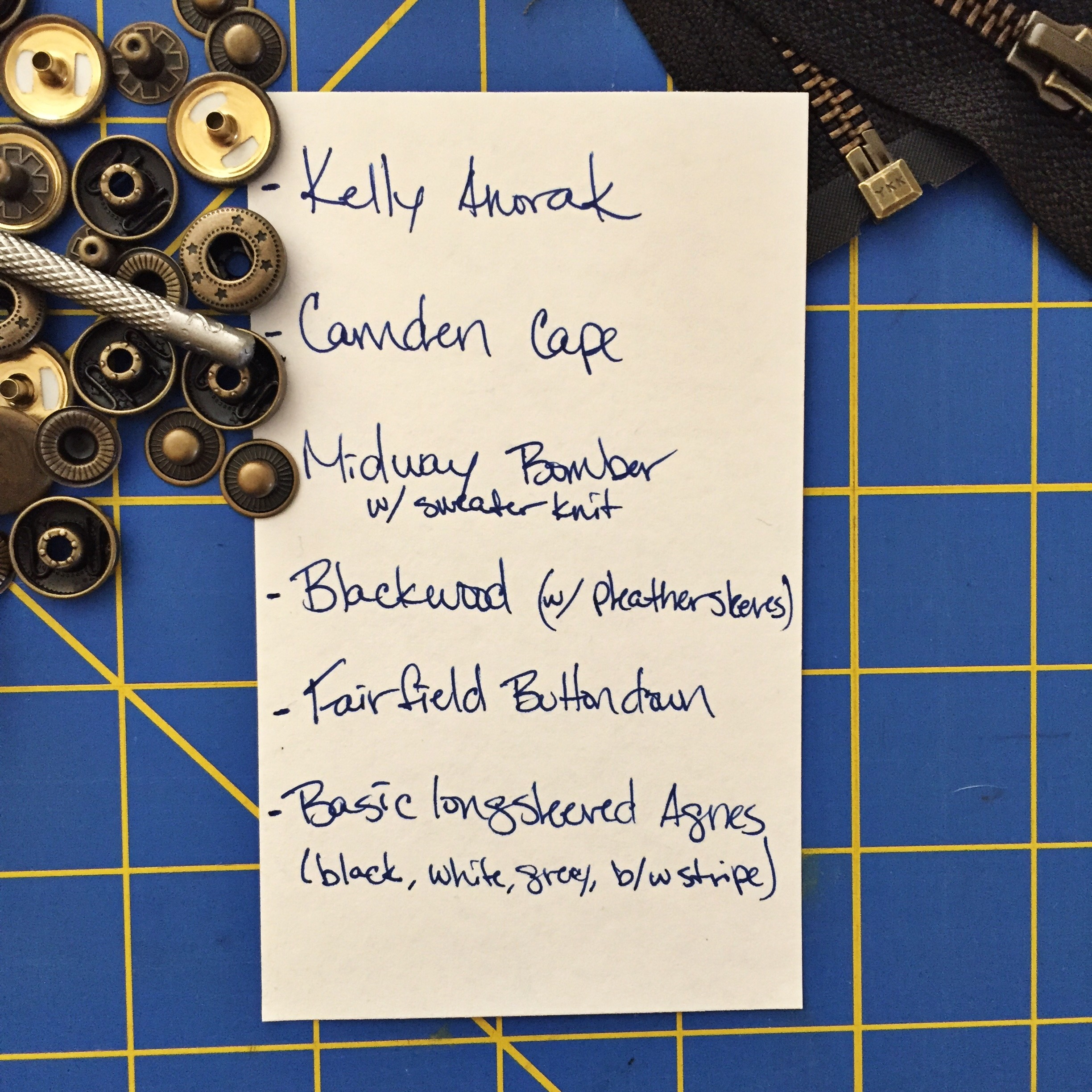 Fall Sewing Plans