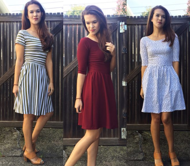 A Trio of Moneta Dresses